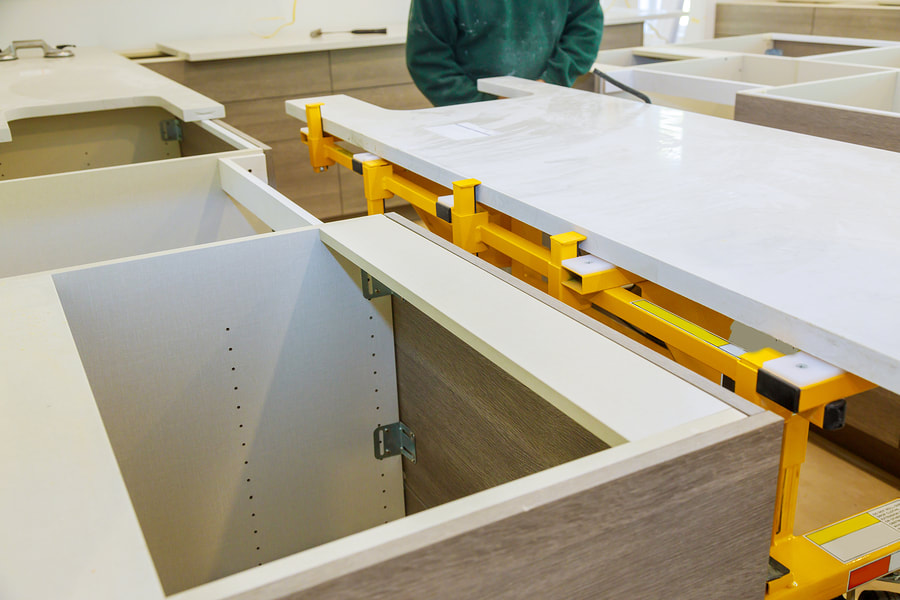 a kitchen countertop fabricator